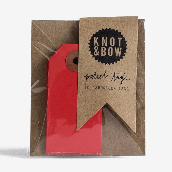 Etiketter Röda - Knot & Bow