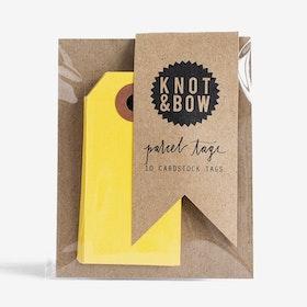 Etiketter Gula - Knot & Bow