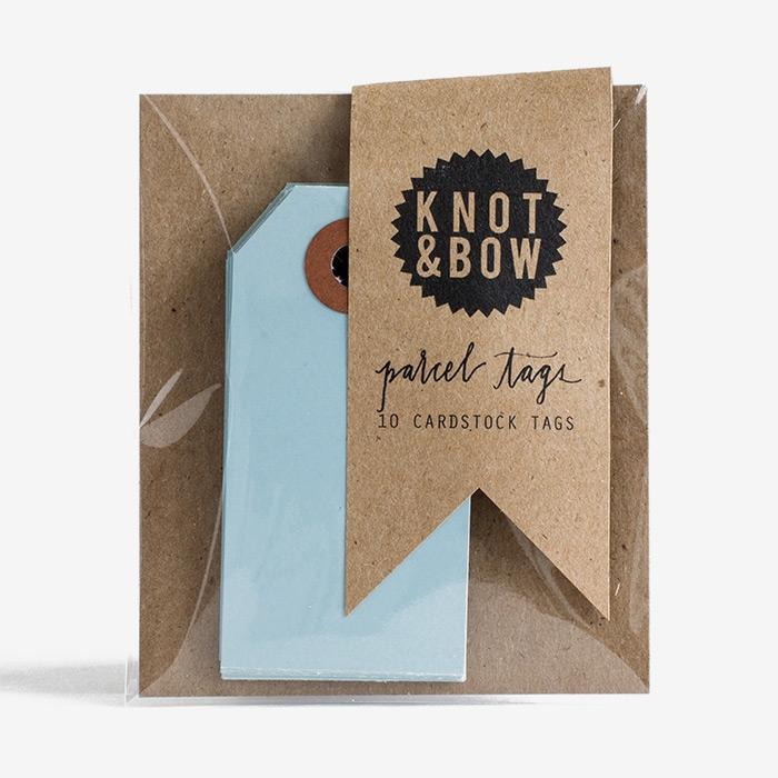 Etiketter Blåa - Knot & Bow