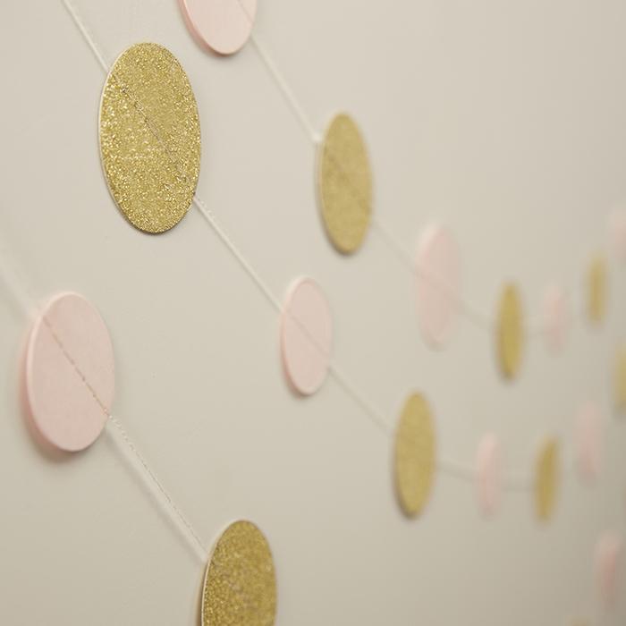 Girlang Confetti Guld & Rosa