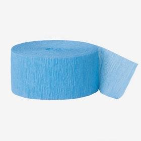 Crepe Streamer ljusblå
