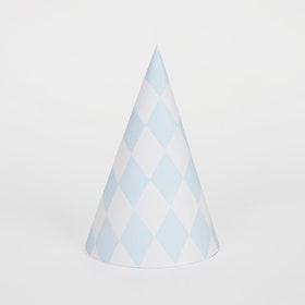 Kalashattar Harlequin ljusblå
