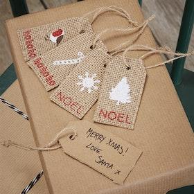 Etiketter - Vintage Noel
