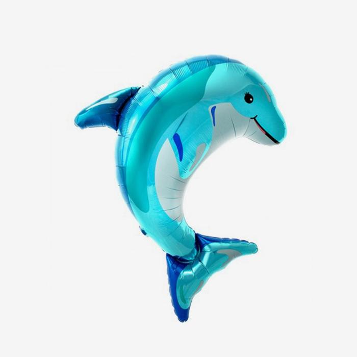 Folieballong - Delfin blå