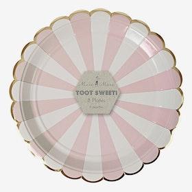 Tallrikar Toot Sweet Puderrosa