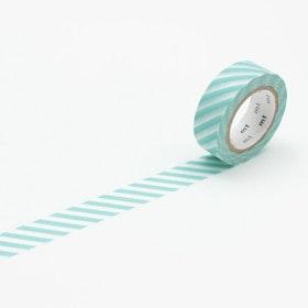 Washitejp -  Tvärrandig Mint