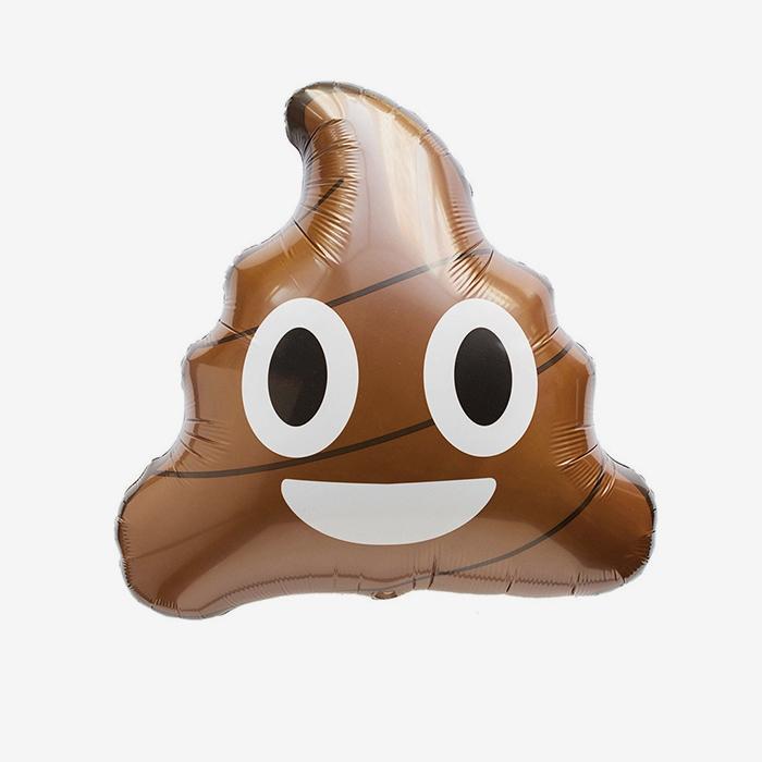 Folieballong - Poop Emoji