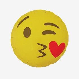 Folieballong - Kissing Heart Emoji