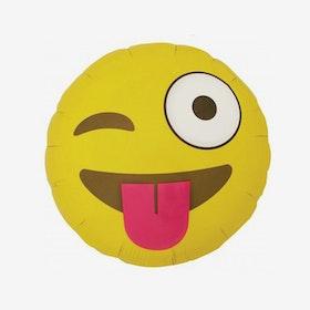Folieballong - Winking Emoji