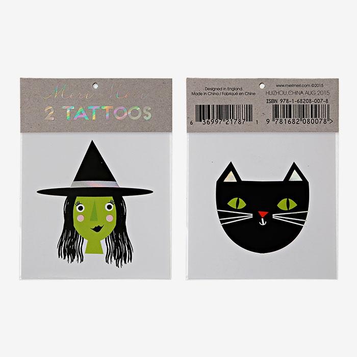Tatuering Häxa & Katt