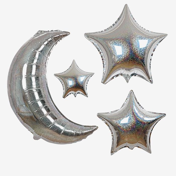 Folieballong - Moon & Stars