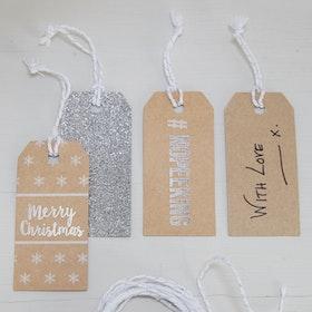 Etiketter - Christmas Metallics