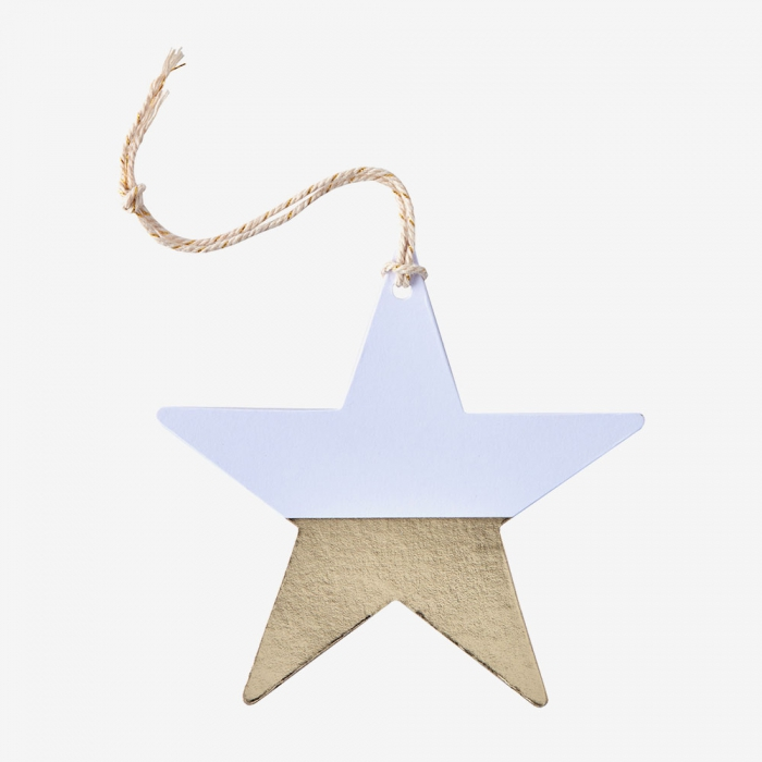 Etiketter Metallic Star