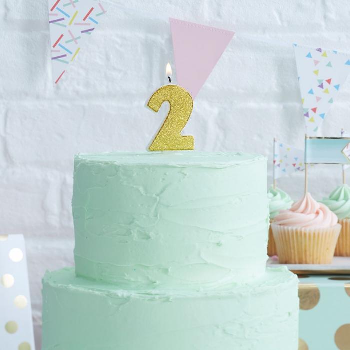 Tårtljus - 2:a Guld