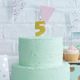 Tårtljus - 5:a Guld