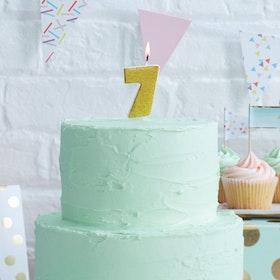 Tårtljus - 7:a Guld