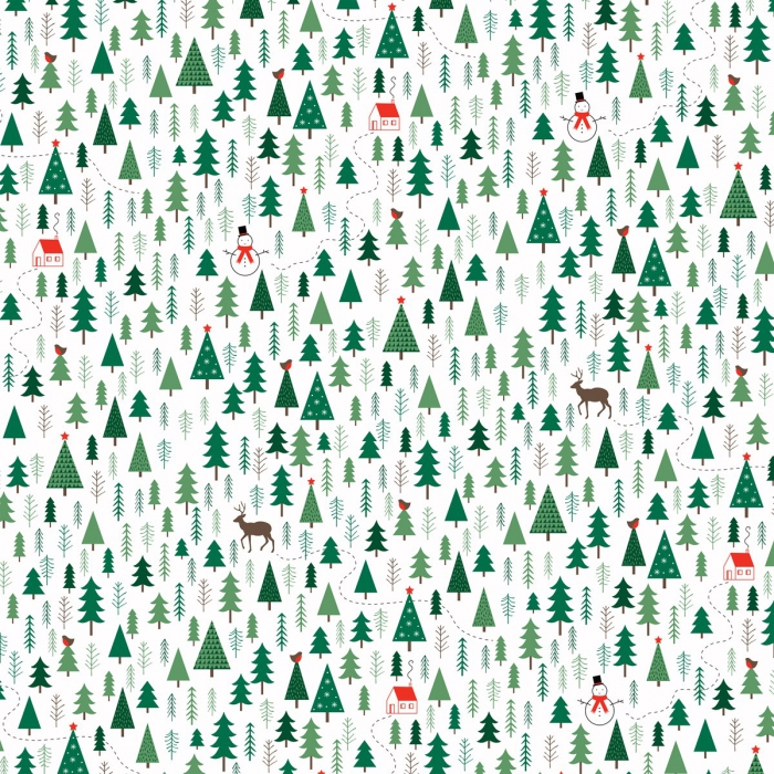Presentpapper Forest Vit