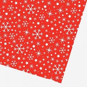 Presentpapper Snowflake red