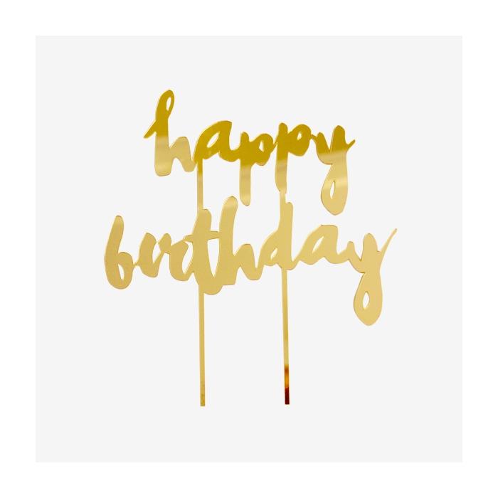 Tårtdekoration Harlow - Happy Birthday
