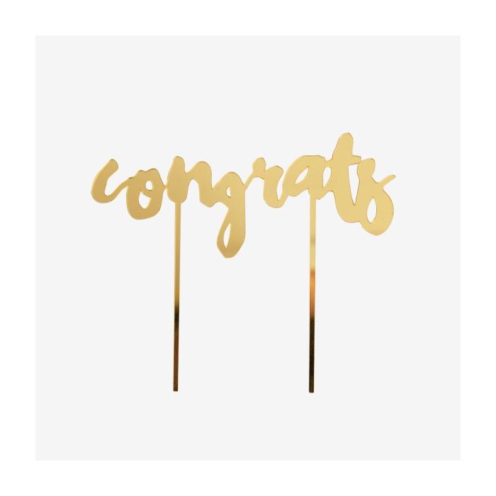 Tårtdekoration Harlow - Congrats