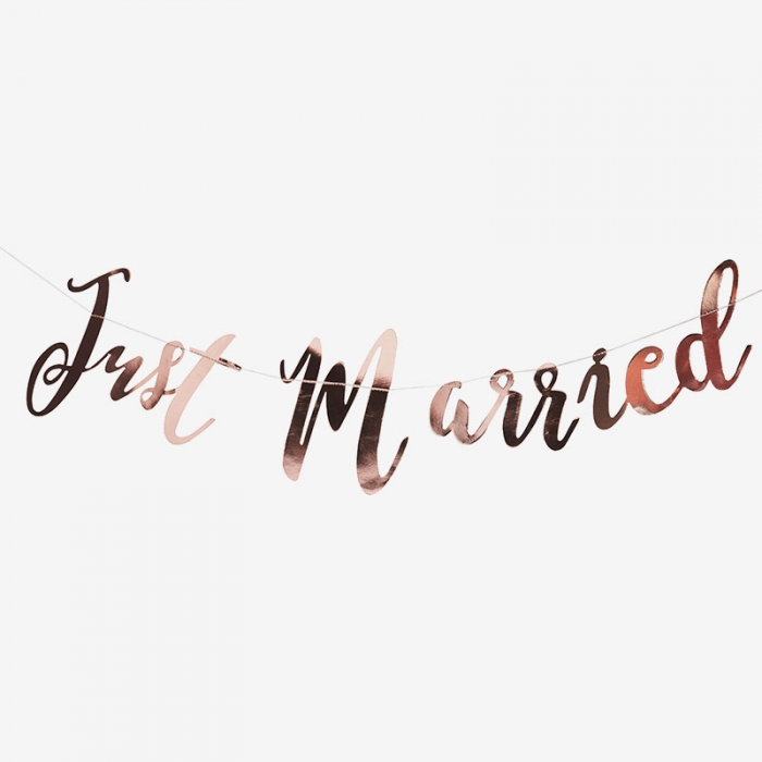Girlang Just married - Roséguld