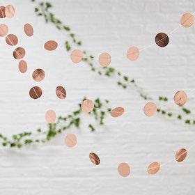 Girlang Confetti Roséguld