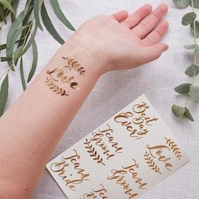 Tatuering Bröllop Botanics