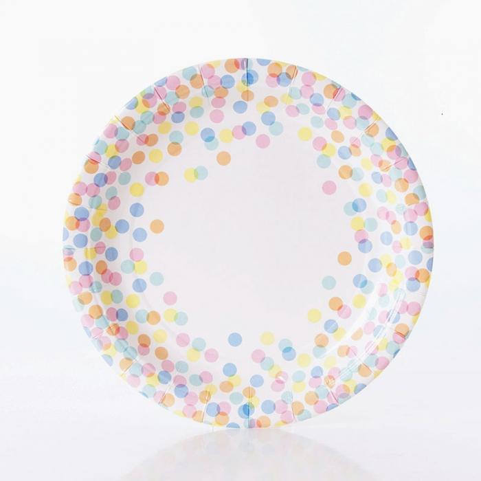 Tallrikar Pastell confetti