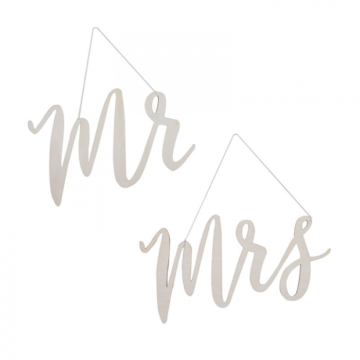 Stolsdekorationer - Mr & Mrs
