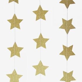 Ballong tail - guldstjärnor