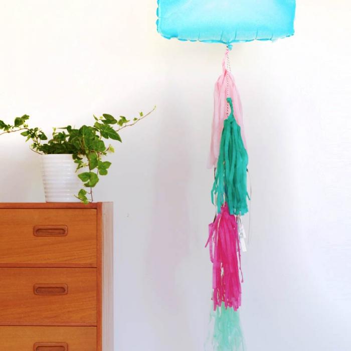Tasselgirlang  - Rosa, Silver och Grön