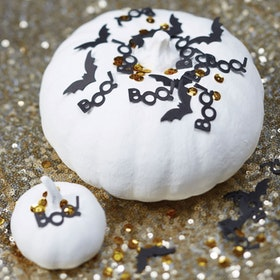 Konfetti Svart & Guld Halloween