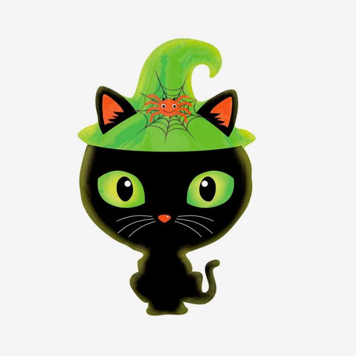 Folieballong - Halloween Svart katt