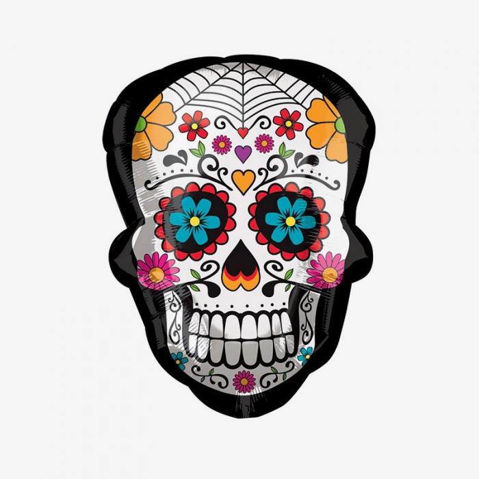 Folieballong - Sugar skull