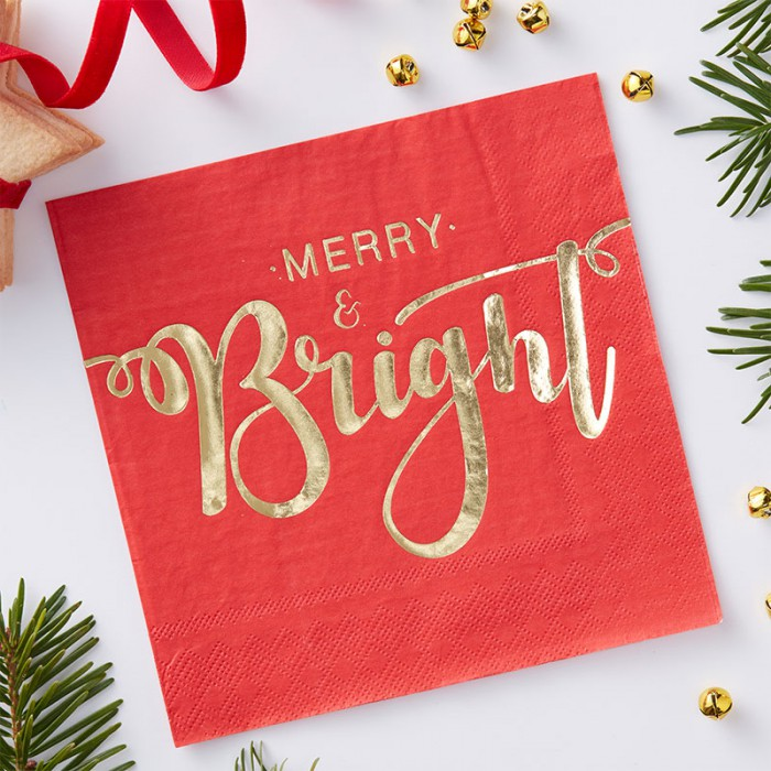 Servetter Merry & Bright