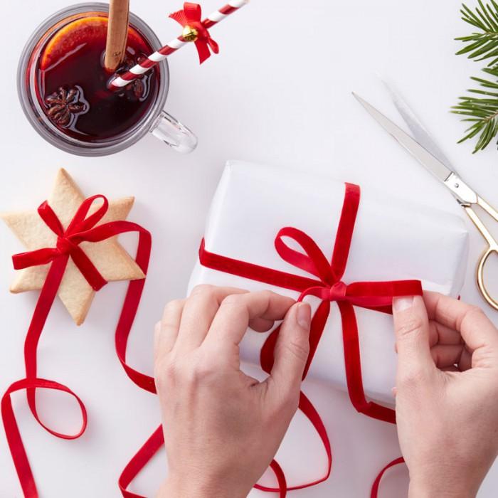 Presentband - Röd Sammet