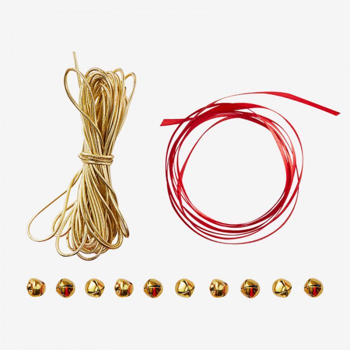 Presentband - Bjällra - Röd/Guld
