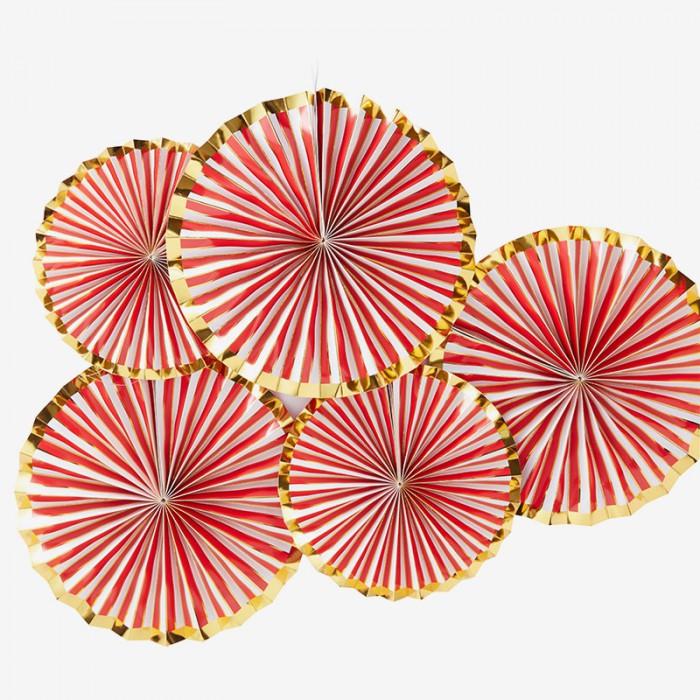 Pinwheels Candy röd & guld