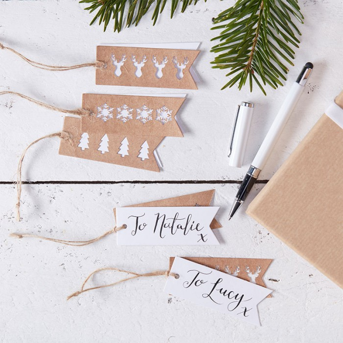 Etiketter - Rustic Christmas