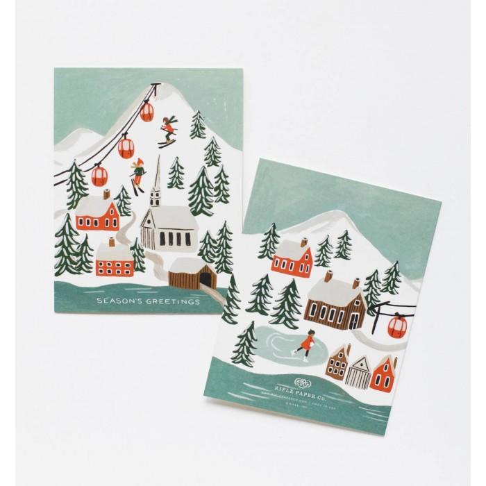 Julkort Holiday Snow