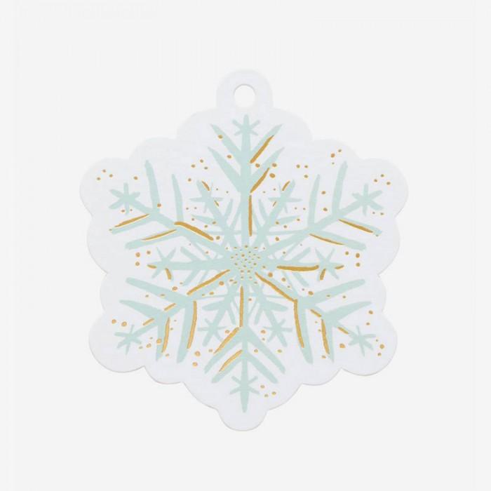 Etiketter Snowflakes