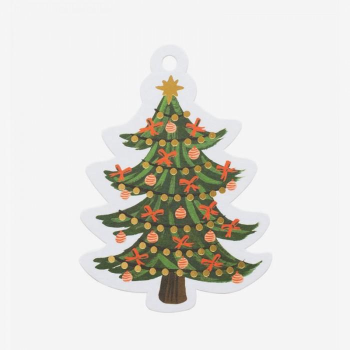 Etiketter Christmas tree
