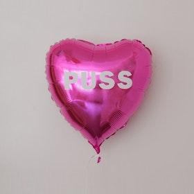 Folieballong - Hjärta Valentines Rosa