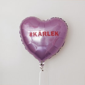 Folieballong - Hjärta Valentines Lila