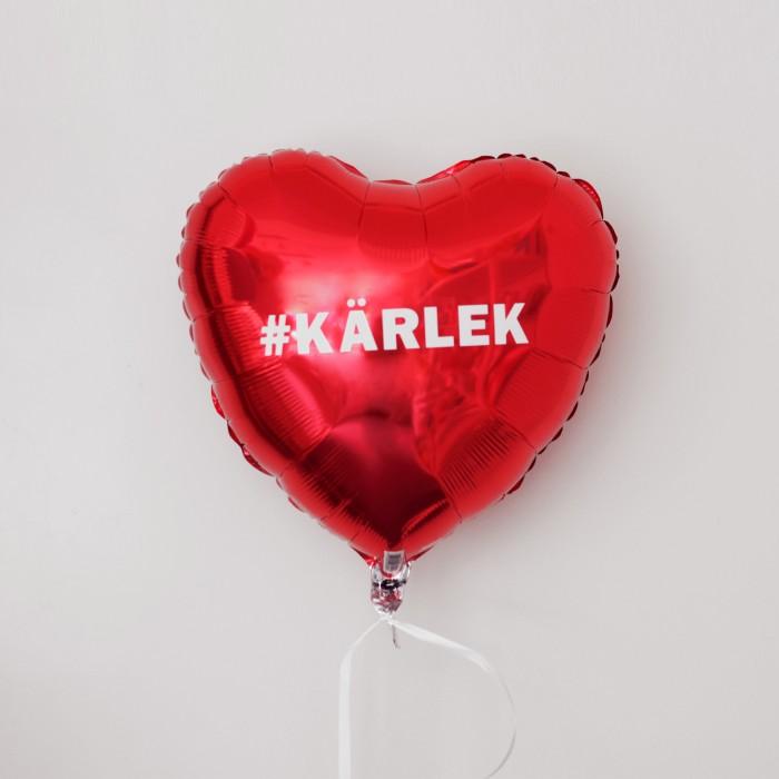 Folieballong - Hjärta Valentines Röd