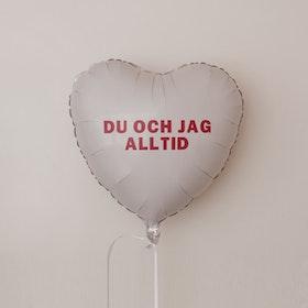 Folieballong - Hjärta Valentines Vit