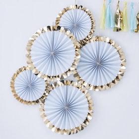 Pinwheels - Blå Guldfolie