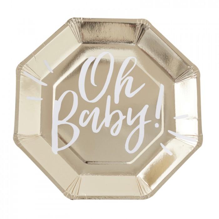 Tallrikar Guld Oh Baby