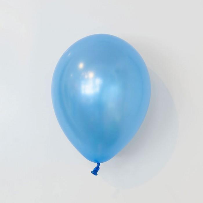 Ballong 28 cm - Pärlemo Safirblå