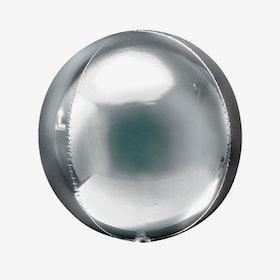 Folieballong - Orbz Silver